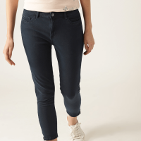 Jeans Crease & Clips Slim Women's Light Blue