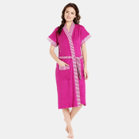 Women's Nighty with Robe  (Maroon)