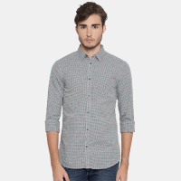Roadster Men Charcoal Grey Regular Fit Solid Casual Shirt